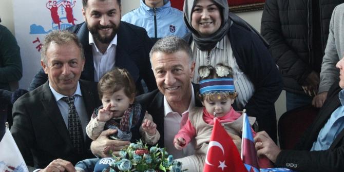 Trabzonspor Başkanı Ahmet Ağaoğlu'na Kocaeli'de yoğun ilgi