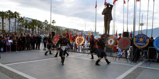 Atatürk'ün Marmaris'e gelişinin 85'inci yıl dönümü kutlandı