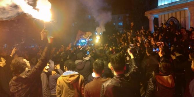 Kütahya'da Galatasaraylı taraftarların galibiyet sevinci