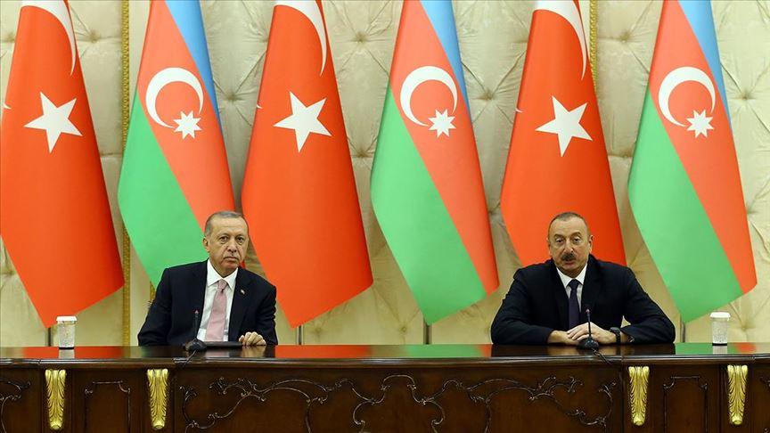 Erdoğan: Azerbaycan ile ticaret hacmimizi 2023'te 15 milyar dolara çıkaracağız