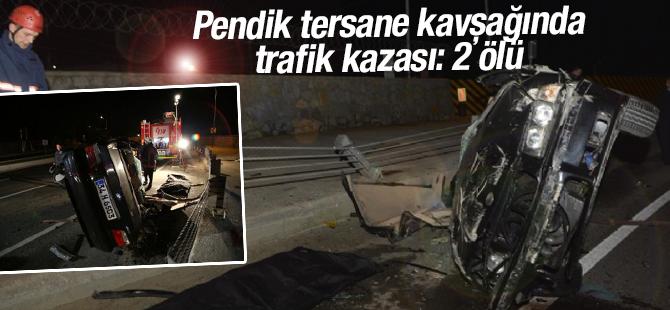 Pendik Tersane'de Trafik Kazası!