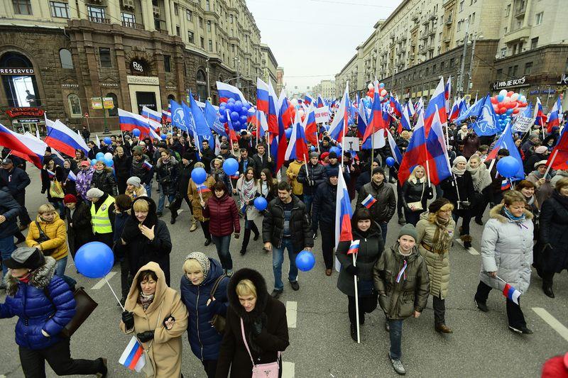 Moskova'da 'Ulusal Birlik Günü' yürüyüşü