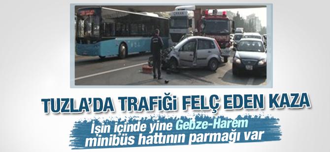 Tuzla'da Trafiği Felç Eden Kaza
