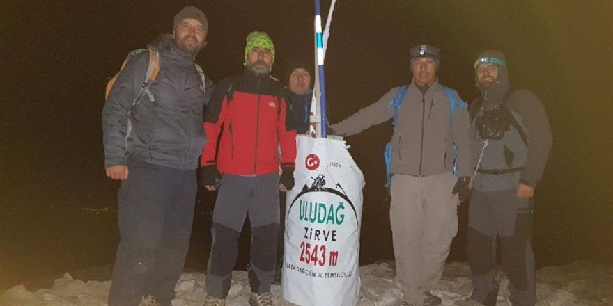 Bursalı dağcılardan 2500 metrede iftar