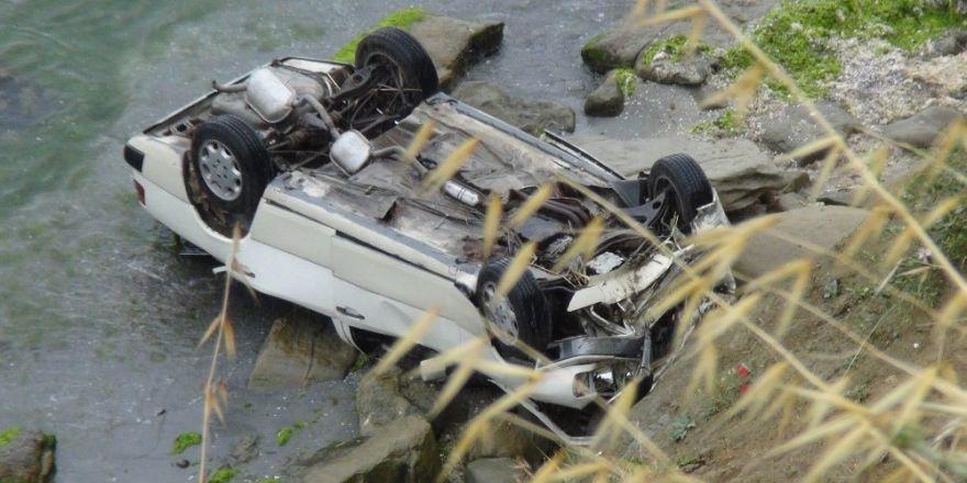 Tekirdağ'da otomobil uçuruma yuvarlandı: 2 yaralı