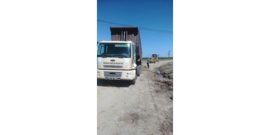 Marmaraereğlisi Belediyesinin yol çalışmaları