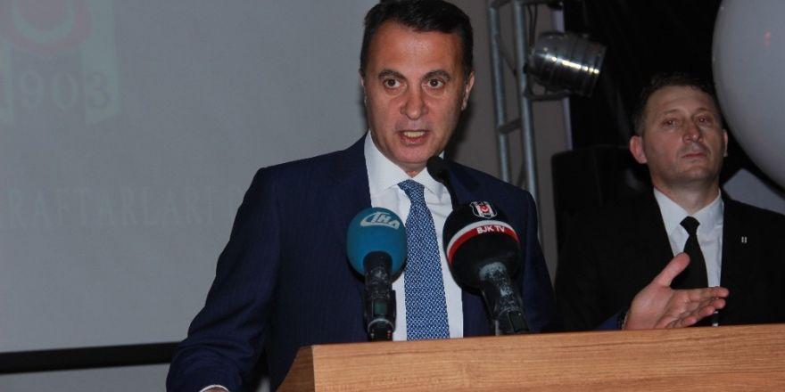 Beşiktaşlı taraftarlardan şampiyonluk kupası izdihamı