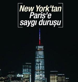Dünya Ticaret Merkezi Fransız bayrağı renkleriyle donandı