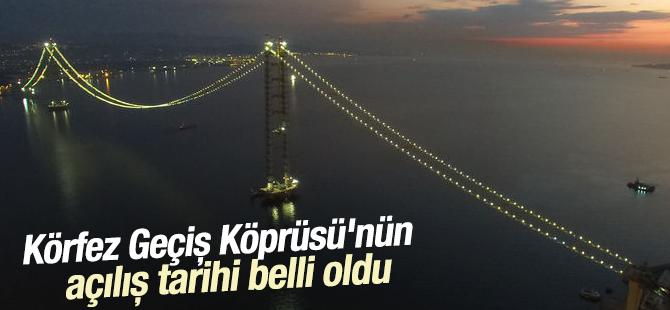 Körfez Geçiş Köprüsü Mart 2016'da Açılacak