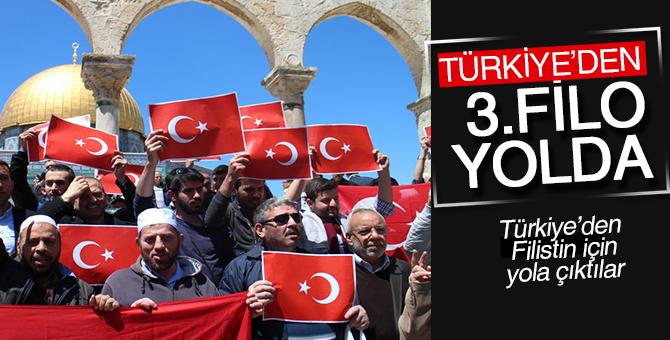 Türkiye'den 3.filo yola çıktı