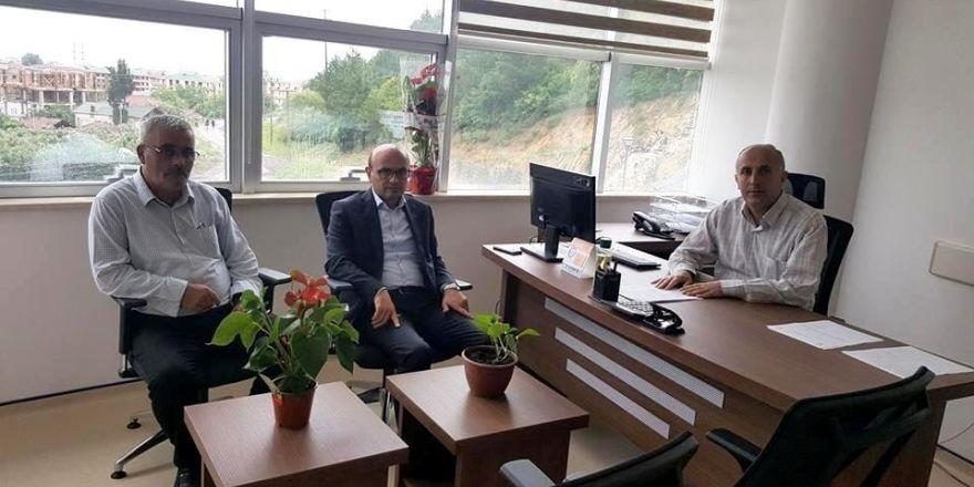 Başkan Metin Oral'dan hastane müdürüne ziyaret