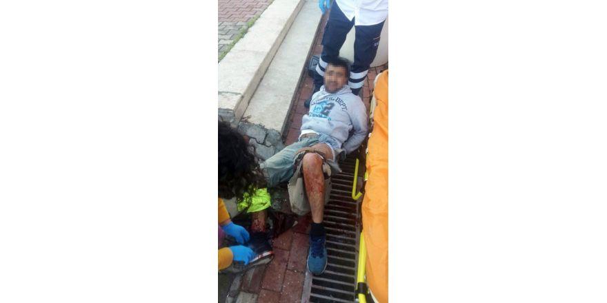Polise bıçakla saldıran kablo hırsızı vurularak yakalandı