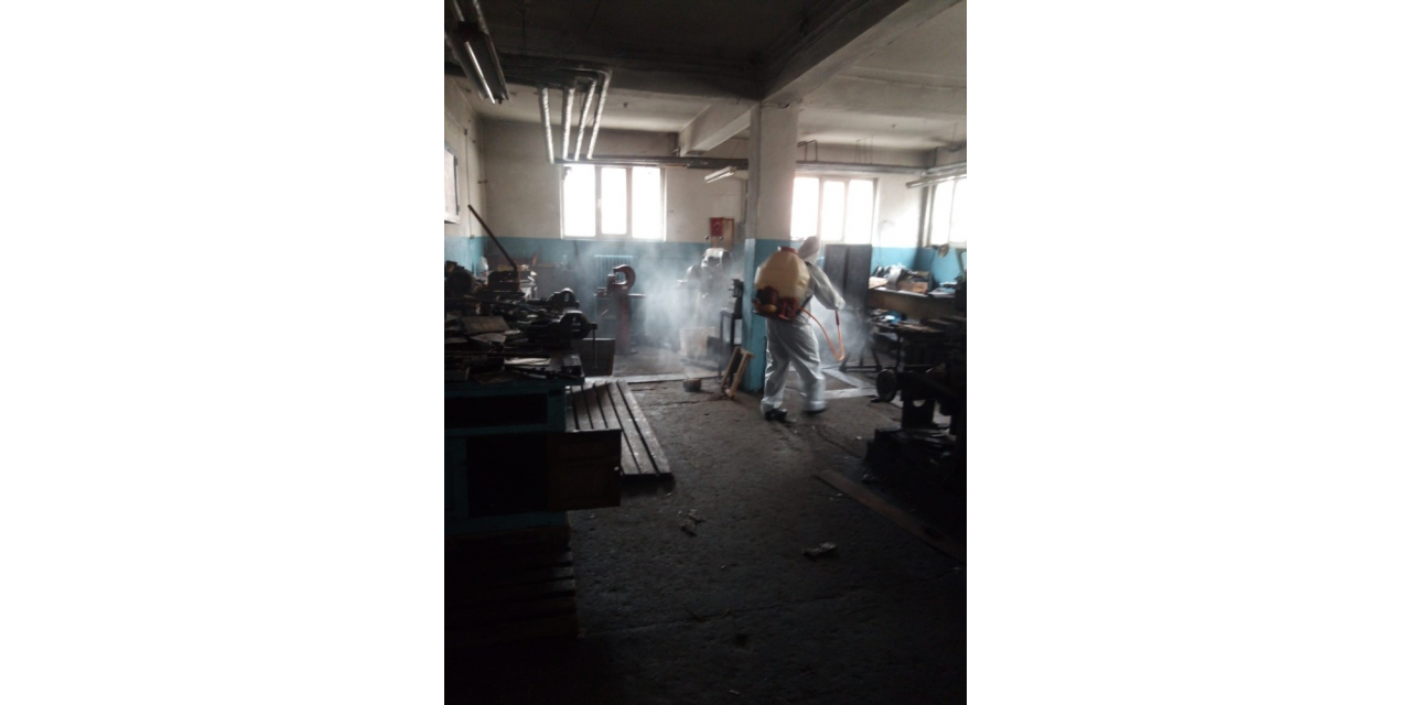 TTK işyerlerinde dezenfekte uygulaması