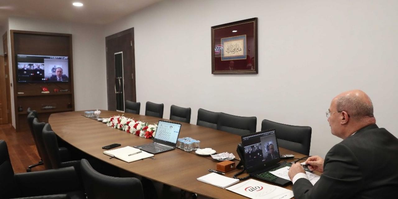 ATO'nun video konferanslı toplantıda ekonomik önlemler görüşüldü