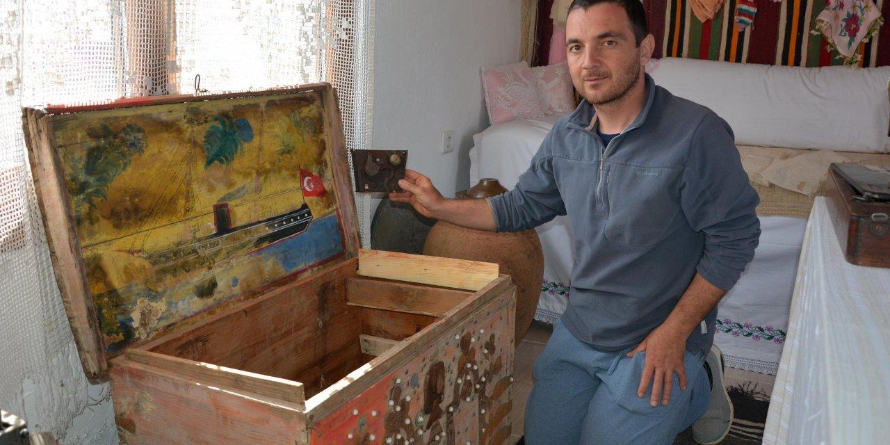 Datça'da 80 yıllık ahşap çeyiz sandığı ilgi görüyor