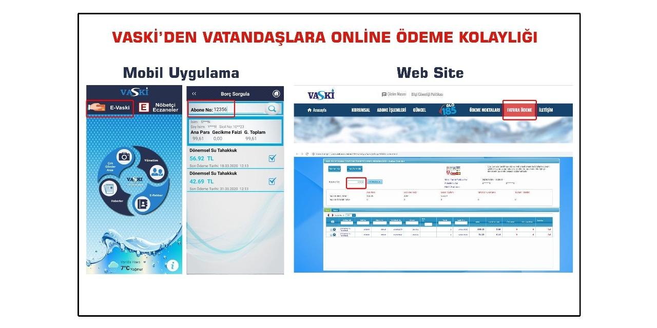 VASKİ'den vatandaşlara online ödeme kolaylığı