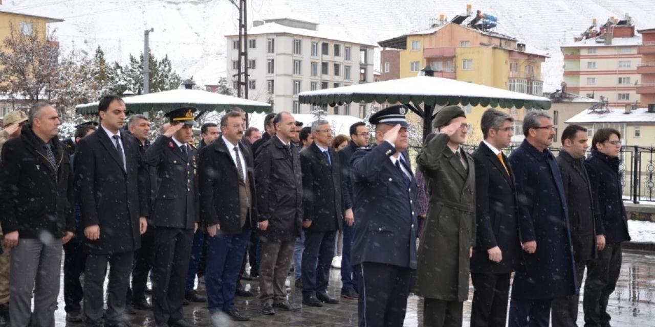 Çanakkale Deniz Zaferi'nin 105'inci yıl dönümü için Darende'de de tören düzenlendi