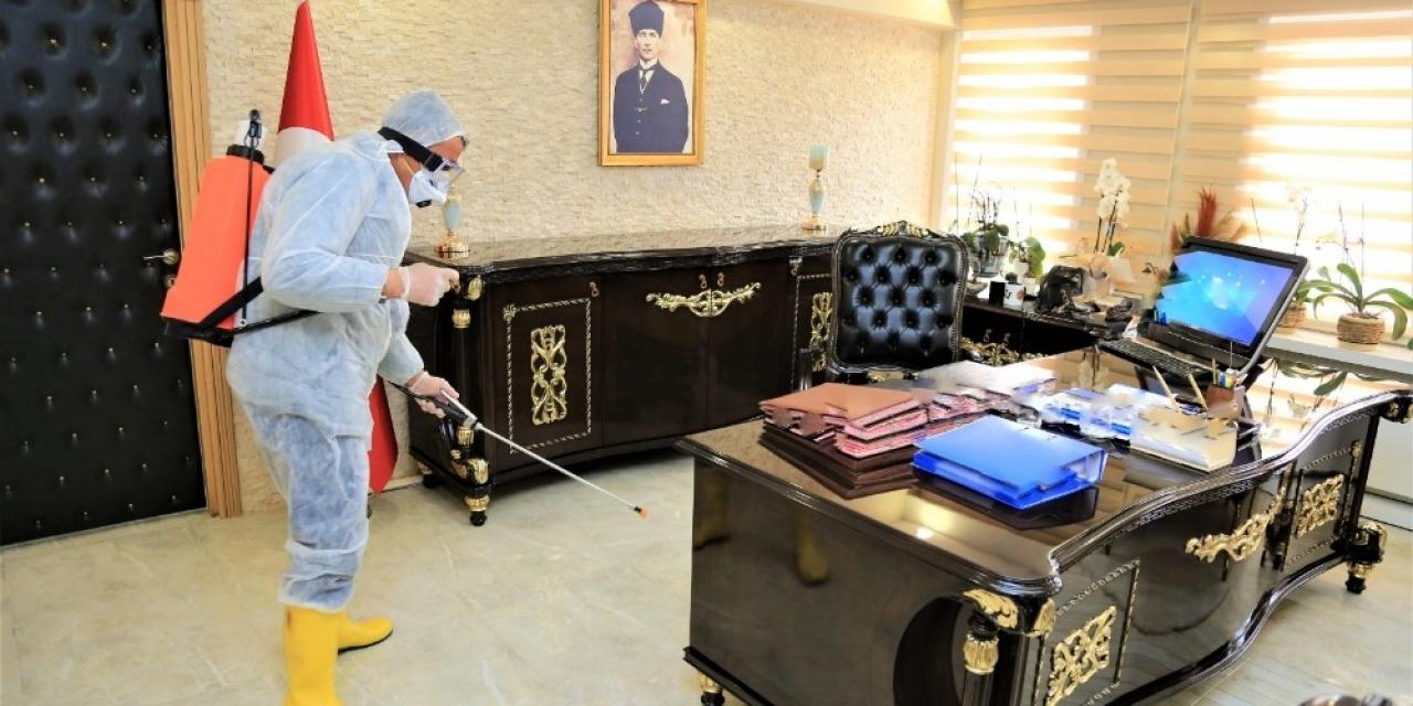 Tuşba Belediyesinden dezenfekte çalışması