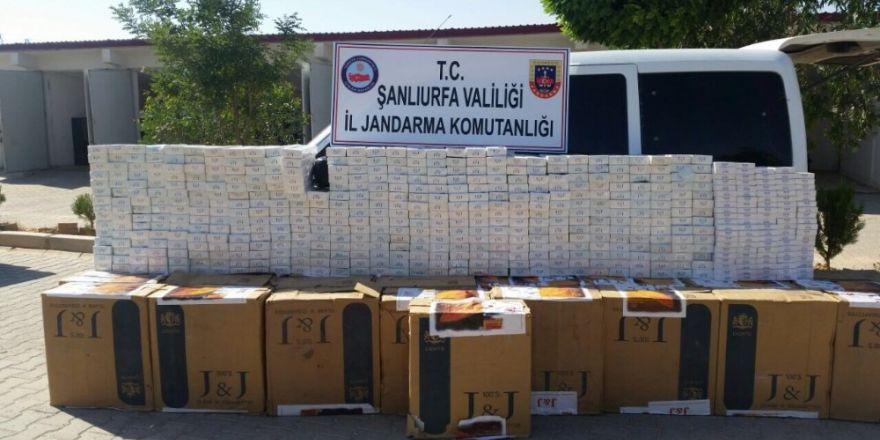 Şanlıurfa'da 17 bin 400 paket kaçak sigara ele geçilirdi