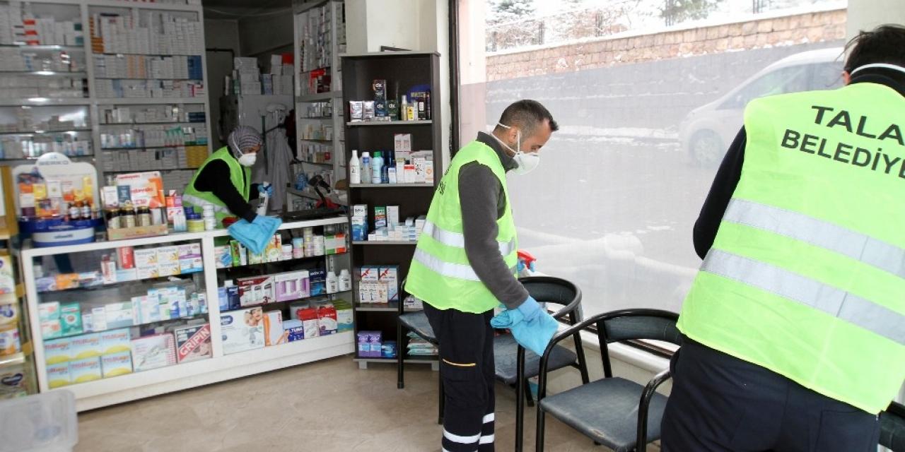 Talas'ta koronavirüs önlemleri sürüyor