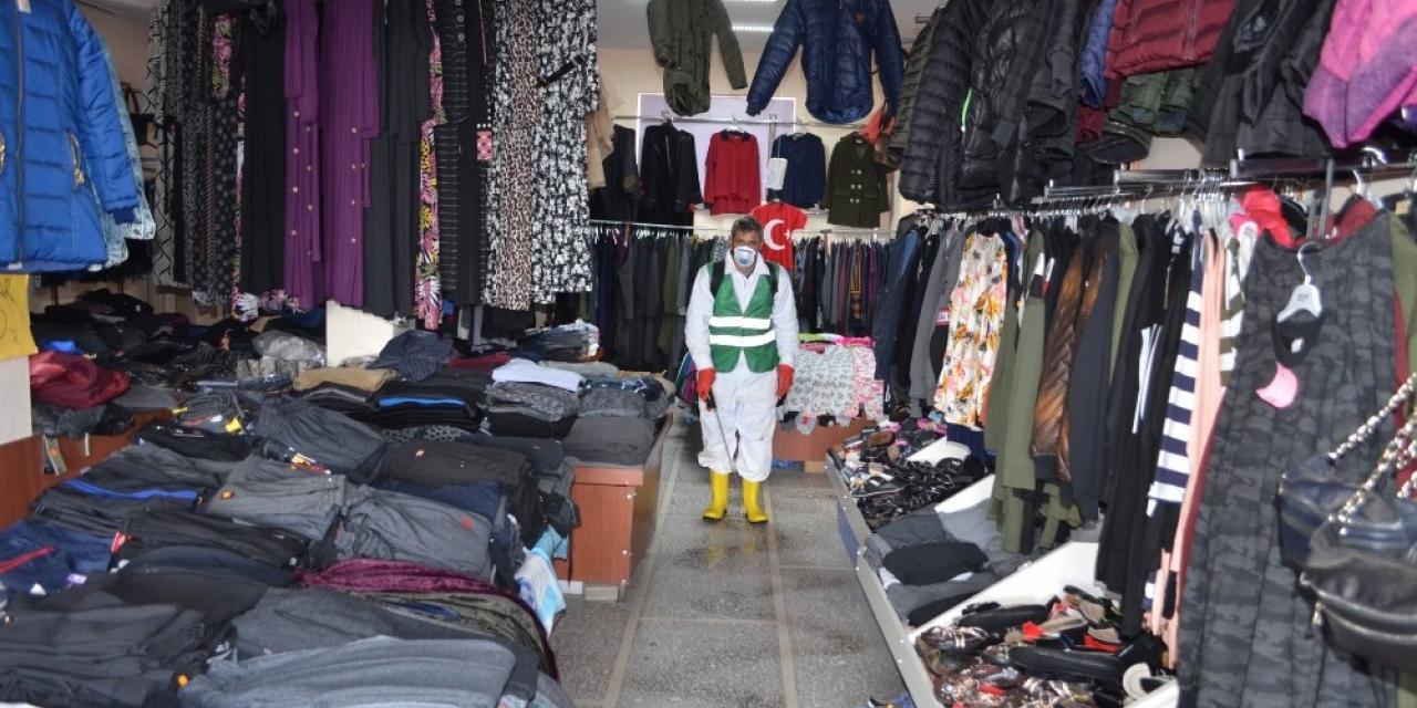 Bünyan Belediyesi ilçedeki tüm dükkanları dezenfekte ediyor