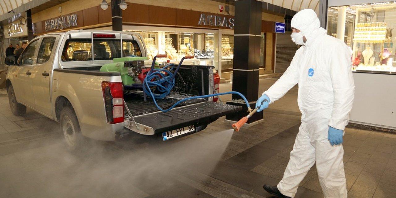 Aksaray'da koronavirüse karşı dezenfeksiyon çalışmaları sürüyor