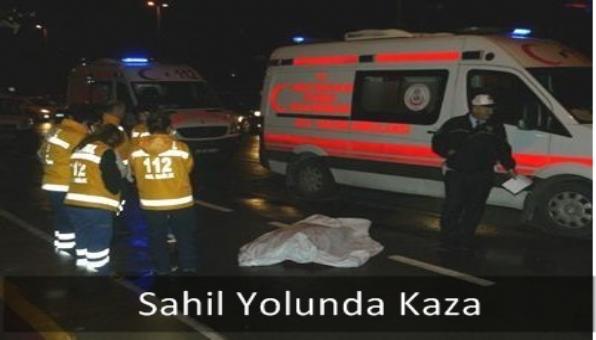 Sahil Yolunda Kaza