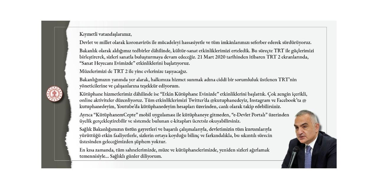 Kültür ve Turizm Bakanlığı ile TRT'den işbirliği