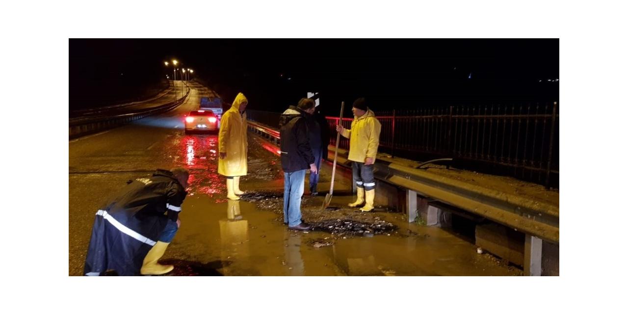Başkan Kılınç'tan yağış denetimi