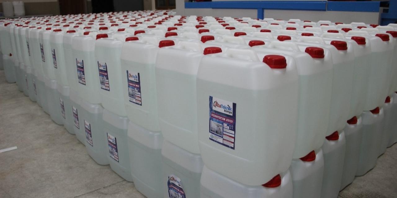 Her gün 20 ton dezenfekten sıvısı üretiyorlar, yine de taleplere yetişemiyorlar