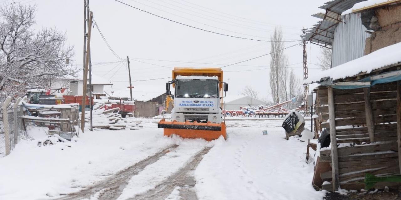 Altındağ'da kar teyakkuzu