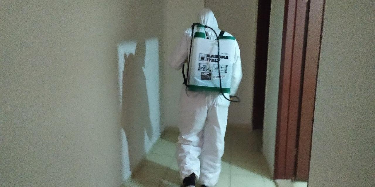Silvan'da dezenfekte çalışması sürüyor