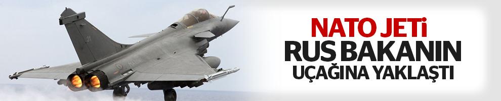 NATO jeti Rus bakanın uçağına yaklaştı!