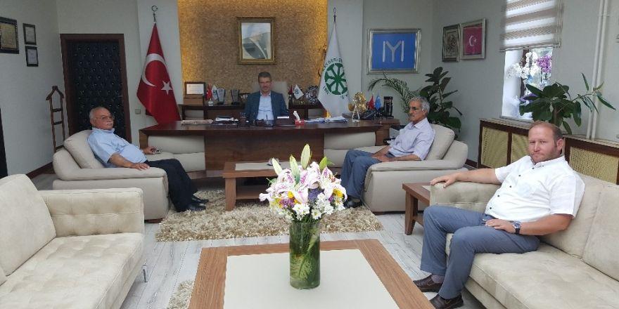 Yeşilhisar ve Tomarza heyetlerinden Başkan Akay'a ziyaret