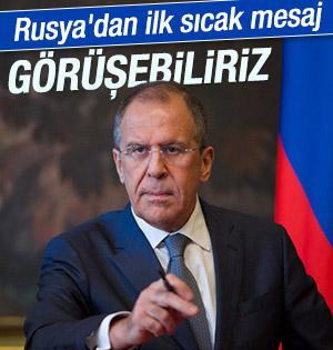 """Rusya Dışişleri Bakanı'ndan sıcak mesaj """"Görüşebiliriz"""""""