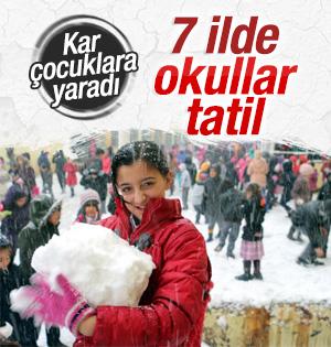Türkiye'de Kar Tatili Edilen Okullar