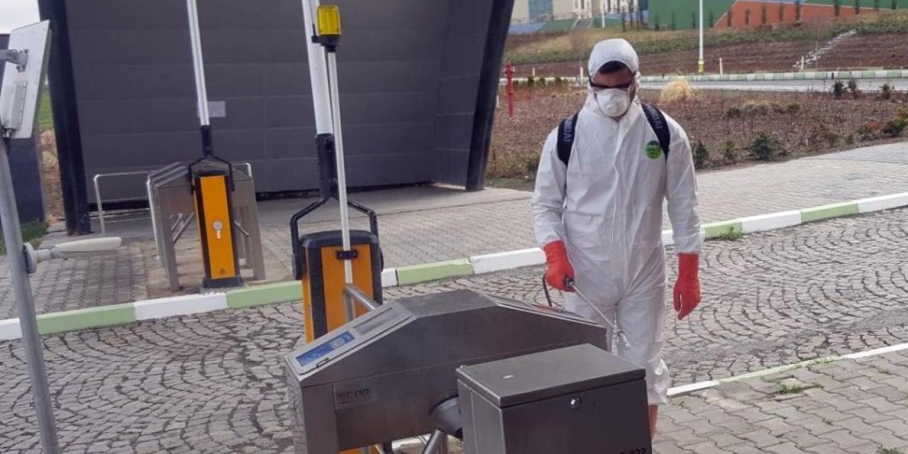 Iğdır Üniversitesinin öz kaynaklarıyla gerçekleştirdiği dezenfeksiyon çalışmaları sona erdi