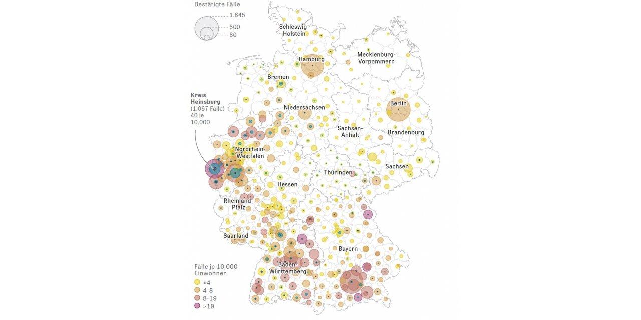 Almanya'da koronavirüs nedeniyle ölenlerin sayısı 224'e çıktı