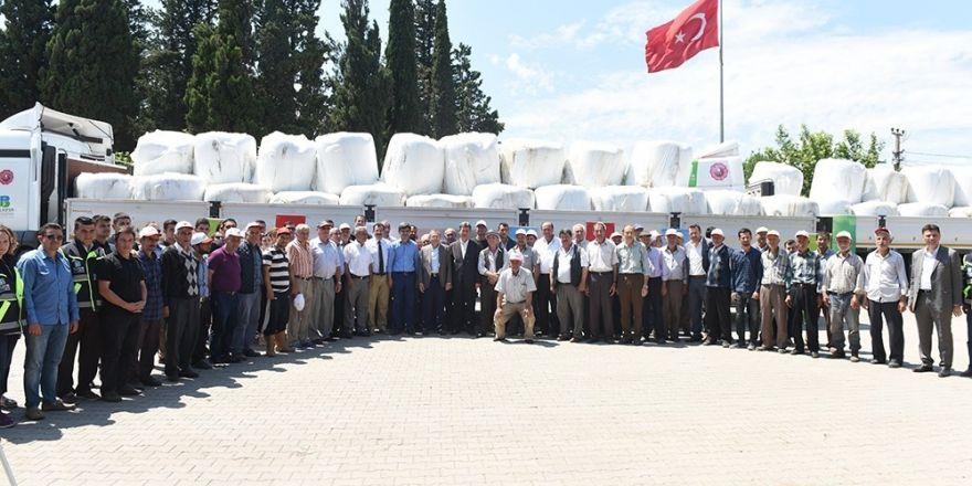 Büyükşehir Belediyesinin çiftçiye desteği sürüyor