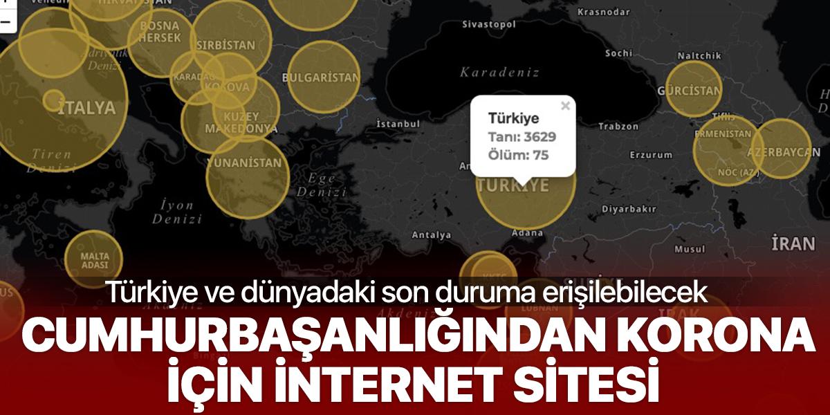 Cumhurbaşkanlığından koronavirüs için internet sitesi