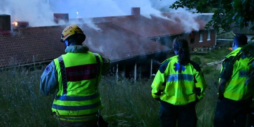 İsveç'te mültecilerin kaldığı evde yangın çıktı