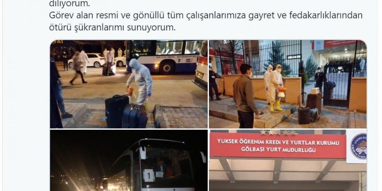 Ankara'da umreden dönenler evlerine uğurlandı