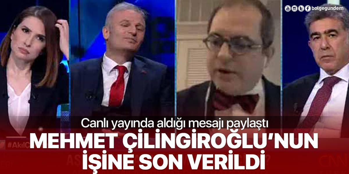 Prof. Mehmet Çilingiroğlu'nun işine son verildi!