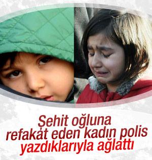 Şehit oğluna refakat eden polis yazdıklarıyla ağlattı