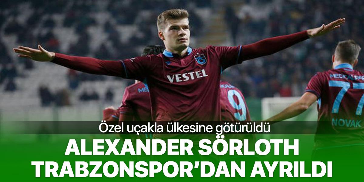 Alexander Sörloth, Trabzonspor'dan ayrıldı!