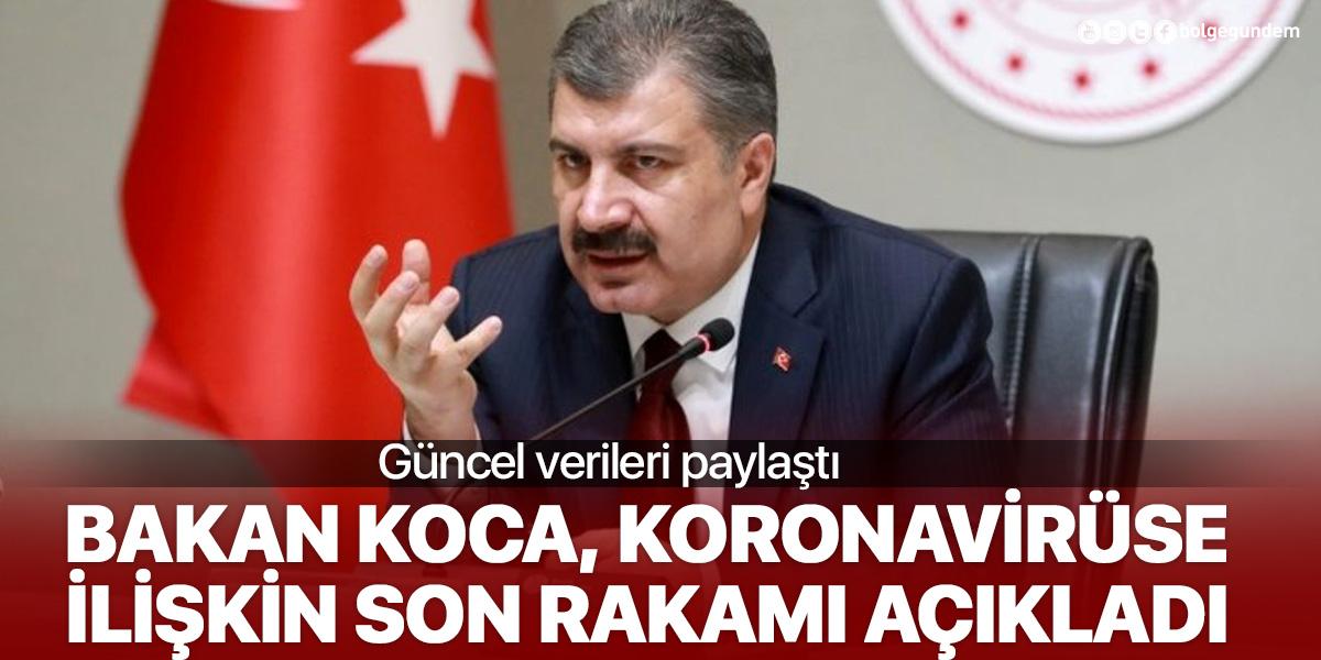 Sağlık Bakanı Fahrettin Koca, koronavirüse ilişkin son rakamı açıkladı