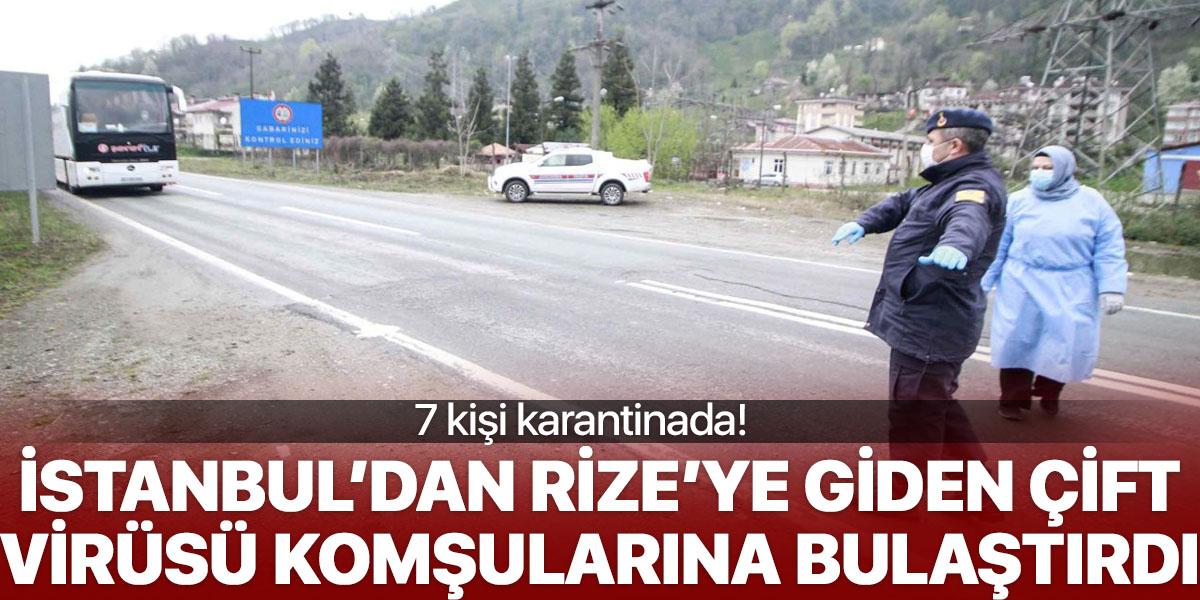 İstanbul'dan Rize'ye giden çift virüsü komşularına bulaştırdı
