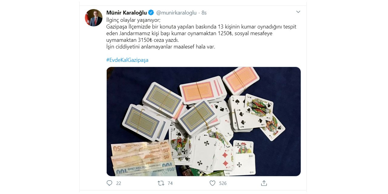 Villada kumar oynarken yakalananlara sosyal mesafe ihlalinden de ceza
