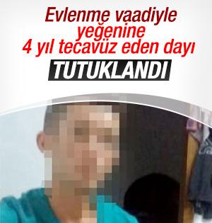 Yeğenine tecavüz eden dayı tutuklandı