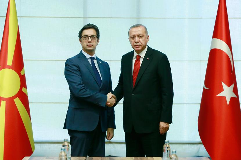 Erdoğan, Kuzey Makedonya Cumhurbaşkanı ile görüştü